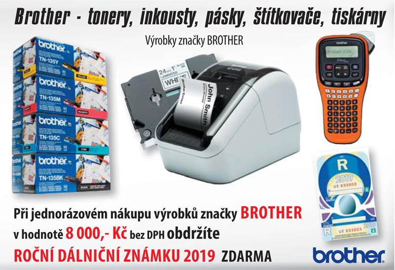 Dálniční známka zdarma se značkou Brother