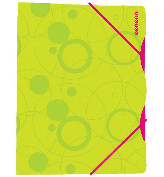 1bf7c931a08a Mapa tříklopá DUO COLORI zelená růžová