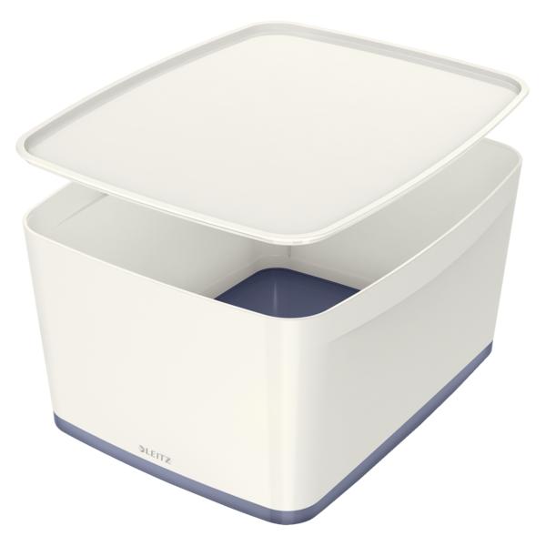 3c649ba3e Úložný box s víkem Leitz MyBox® M šedý